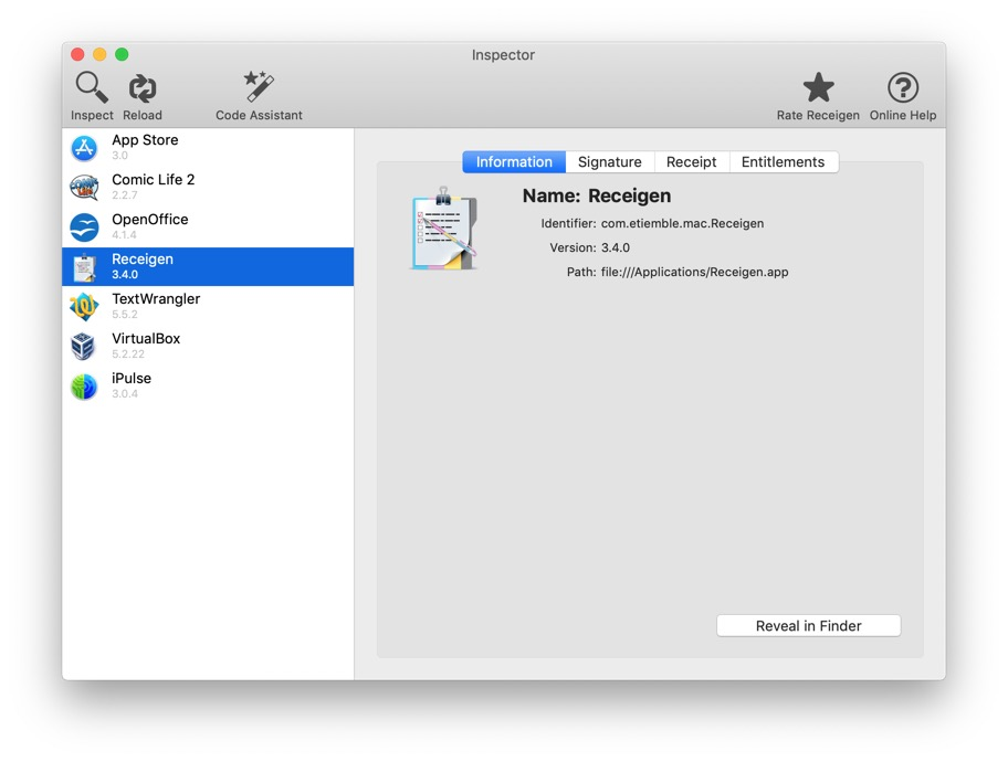 Receigen - App Store receipt validation made easy for OS X